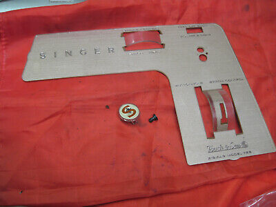 Singer Sewing Machine 758 Touch & Sew Parts Front Face Cover Plate Panel