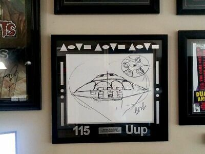 "Bob Lazar Signed Area 51 ""Sport Model"" UFO Print  115 Uup 24 x 26 Ancient Aliens"