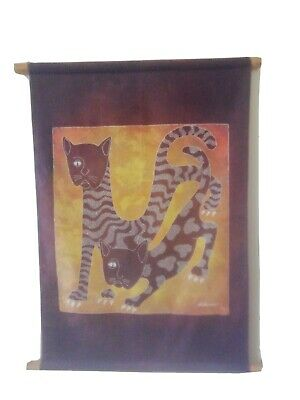 An Exquisite Vintage  Cats Scroll . Signed Lukimow