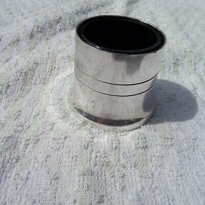 Epns Silver  Mustard Holder And Blue Glass Insert