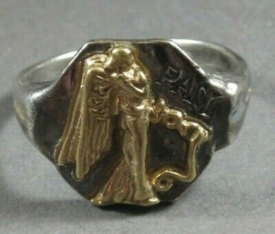 Ancient Roman Military Legionary Gold Silver Ring Paci Circa 100 BC - 200 AD