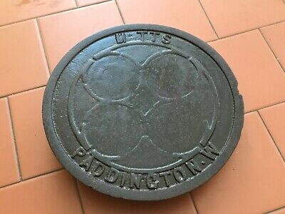 "ORIGINAL VICTORIAN LONDON  Cast Iron Coal Hole Cover 12"" Circular/Round"