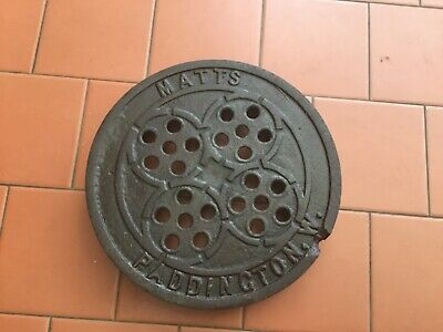"UNUSUAL Original Victorian Ventilated Cast Iron Coal Hole Cover 12"" Circular"