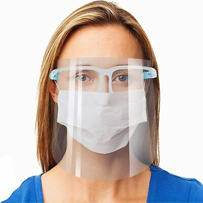 2pcs Safety Face Shield Reusable Goggle Shield Face Visor Protect Eyes