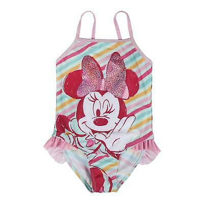 Disney Costume Mare Piscina MINNIE Bambina Costume Intero Rosa o Verde