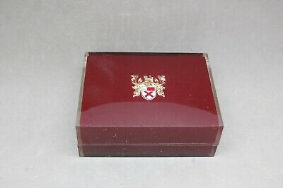 Lord Elgin 21 Jewel Durapower Watch Box Only Empty Vintage Lucite Red 4 1/2""
