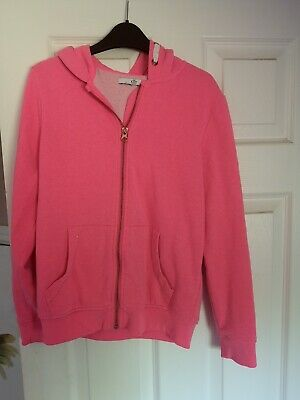 Girls Hooded Zipped Top Long Sleeve Jumper Hoodie Age 11-12 Yrs By M&S