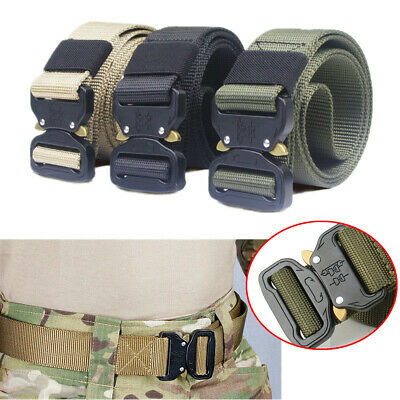 Adjustable Casual Military Tactical Belt Men Army Combat Waistband Rescue Rigger