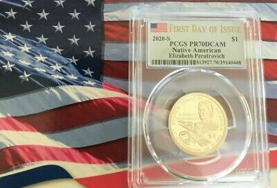 2020-S Sacagawea Native American Dollar PR70DCAM       FIRST DAY OF ISSUE