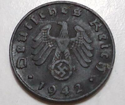 1942 Germany 1 Pfennig *Nazi Coin*  0.99 Cents Auction  *Free Shipping*