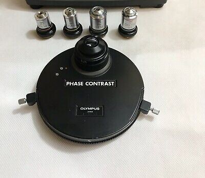 Olympus Microscope Phase Contrast Condenser  & PL 10,20,40 For CH,BH