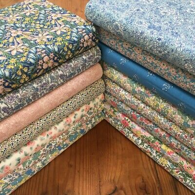 Liberty of London Spring Flower Show 15x Fat Quarter Blue Red Pink 100% Cotton