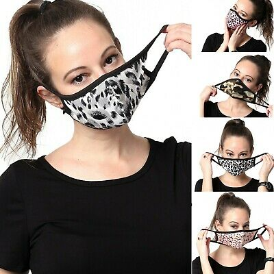 Womens Fashionable Face Mask Pattern Washable Reusable Cloth Cotton-lined Inside