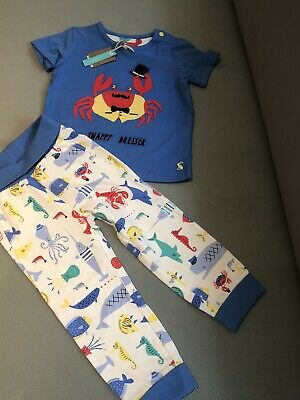 Magnolia Baby Boys SNAPPY THE LOBSTER Printed Short Set Red Size 3 Months NEW