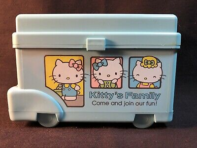 Vintage 1976 Hello Kitty Sanrio Blue Bus Japan Very Ultra Rare Retro Cute