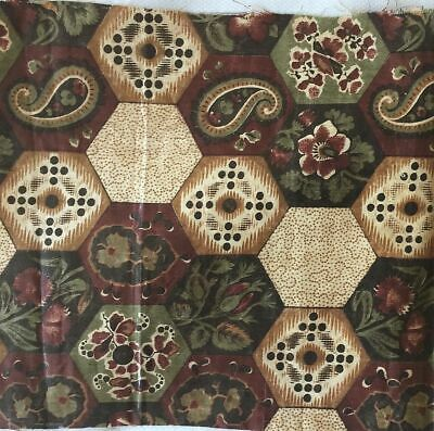 Rare Antique Chintz Early Cheater Cloth, c. 1830
