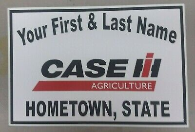 Personalized Case Ih Tractor Aluminum Name Sign