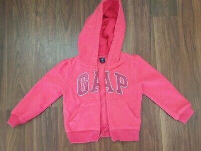 Baby Gap Pink Long Sleeved Hoodie Glitter Logo For Girl 2 Years