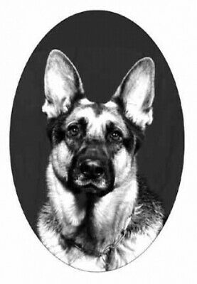 4X6 GERMAN SHEPHERD static cling glass window decal,home auto removable,reusable