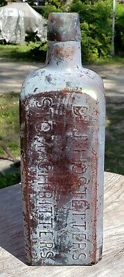 Dr. J. Hostetters Amber Stomach Bitters Bottle.