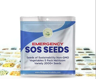 🔥 2000+ Seeds 5 Fruit/Vegetable Variety Pack Kit Emergency Survival Non GMO
