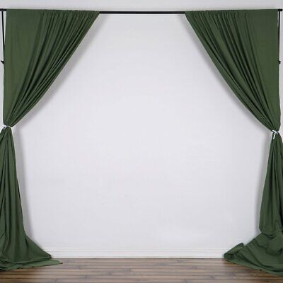 WILLOW GREEN 10 x 10 ft Polyester BACKDROP CURTAINS Drapes Panels Home Party