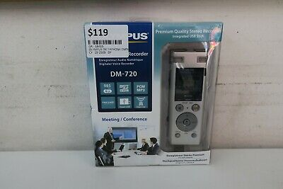 Brand New -  Olympus Dm-720 Digital Recorder - 985 Hours - 4Gb In Box