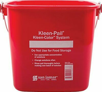 Carlisle KP196RD Kleen-Pail Commercial Cleaning Bucket 6 Quart Red