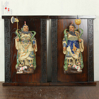 21'' china porcelain Ceramic Art pottery home fengshui the God of Door statue