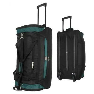 """22""""/30""""/36 Rolling Wheeled Duffel Bag Travel Duffle Suitcase Luggage Polyester"""