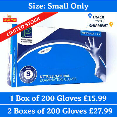 Disposable Gloves Nitrile Blue 200pcs Multipurpose Powder Latex Free Size Small