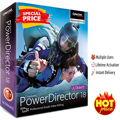 Cyber-Link Power-Director Ultimate 18 🔥 Genuine Life time License | 30s DELIVER