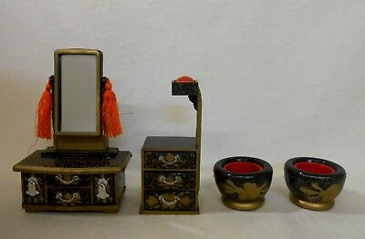 709 Japanese Dressing Table KYODAI & Workbox & Brazier / Ornament for HINA Doll