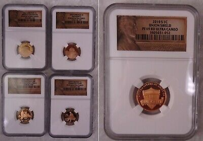 2009 2010 S Ngc Pf 69 Rd Lincoln Bicentennial Set Shield Proof Ultra Cameo Coins