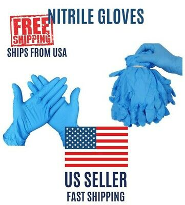2/10/20/100pcs Nitrile Gloves Blue Powder & Chemical Free Med Ships from USA