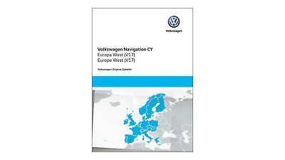 "Original VW Navigations-Update für RNS 510/810, ""CY Europa West"" (V17), DVD-ROM"