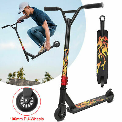 Stunt Scooter Push Kick Trick Scooters 2 Wheels Kids Adult City Outdoor – Flame