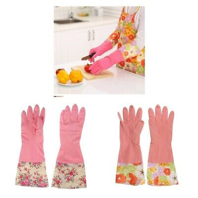4x Kitchen Dishwashing Latex Cleaning Gloves Laundry Gloves Household Gloves