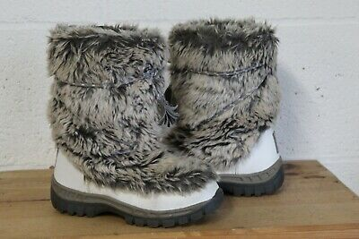 Girls Winter Snow Faux Fur Yetti Boots Size 1 By Next Used Condition