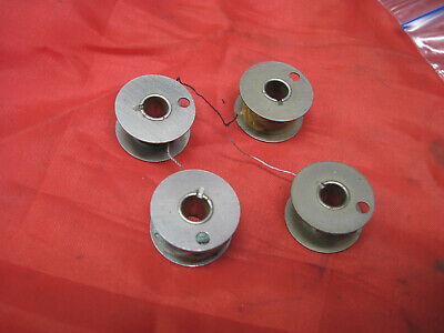4 Vintage BOBBINS CLASS 15 for Singer 15-89 15-90 15-91 Early 1 Hole