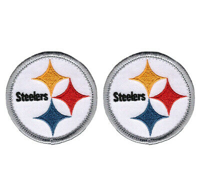 """2X Pittsburgh Steelers Small Size 2"""" Iron on Patches Embroidered Patch Sew FN"""
