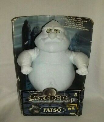New 1994 TYCO Plush CASPER The Friendly Ghost FATSO with NITE GLOW EYES Vintage