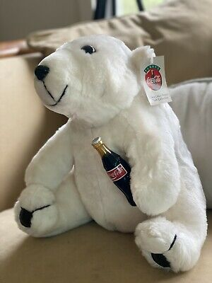 Coca Cola Large Polar Bear With Tags Circa 1993