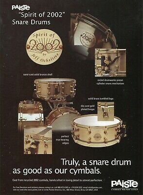 2000 Print Ad Paiste Spirit of 2002 Snare Drum Jeff Ocheltree recycled cymbals