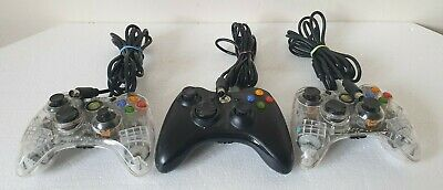 Microsoft Xbox 360 S Wired Controller Gamepad Aftergfow Jobs Lots Of 3 **Faulty*