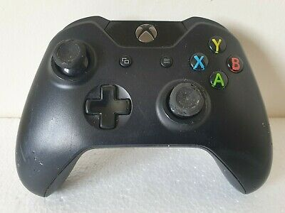 Microsoft Xbox One Wireless Controller Gamepad -Black- **No Battery, Faulty**
