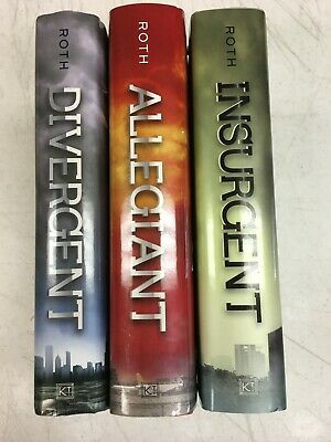 THE DIVERGENT SERIES Set of 3  by Veronica Roth 1st editions - HC/DJ  VGC