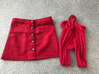 Girls Next Red Skirt And Tights Age 7 Years