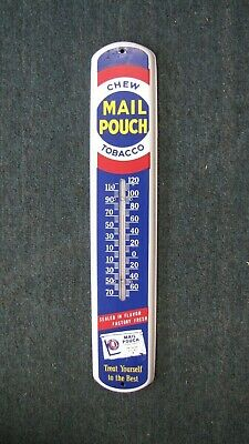 Rare Vintage Mail Pouch Chew Tobacco Thermometer 17 Inch