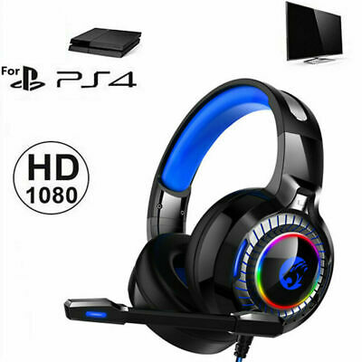 4D Stereo High-end LED Pro Gaming Headset for Nintendo Switch, PS4 Xbox One & PC